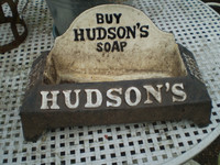 Architectural Salvage, Hudsons 1930's Soap Advertising Dog Feeder, Drinker