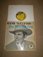 Sing Me a Blue Song Vinyl LP Album Hank Williams, 1958 British Original, Near Mint