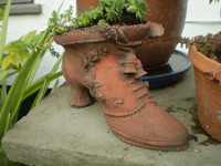 Vintage French Victorian Style Ladies Boot planter, Garden Reclamation, Lovely condition