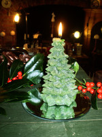 Danish Christmas Tree Glitter Candle, Totally made from Plant Wax