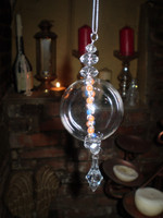2 Luxury Danish Christmas Beaded Crystal Bauble Ornament