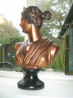 Vintage Danish Grecian Style Lady Bust Statue.