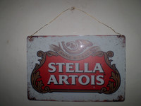 Vintage French Stella Artois Bier Sign, 1980's circa