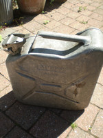 Vintage French Aubry Paris WW2 Fuel Can, Superb condition,Galvanised