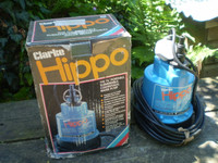 Vintage Clarke Hippo Pump, Never used,Pumps 1020 gallons per hour