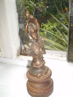 Vintage, antique, French 1920's Bronze & Timber Statuette