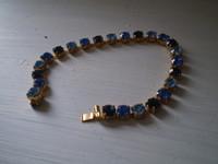 Vintage Danish 1950's Diamante Bracelet on brass base, lovely condition