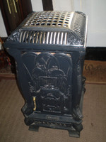 Vintage 1991 French La Fontaine cast iron calor gas heater, Great working order