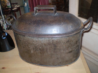 Vintage 1850's French cooking pot with Trivet, lovely condition