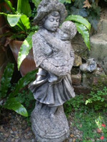 Vintage 1930s French Children garden statue,Architectural salvage,reclamation