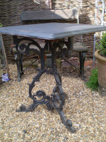 Superb Victorian Oak and Cast Iron Pub Table for your Home or Garden,Vintage chic reclamation