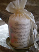 Congratulations gift Occasion candle & candle plate