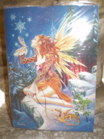 Traditional English Christmas Fairy card,The Yule Fairy,Eco Friendly