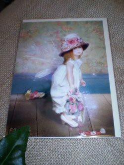 English Fairy Card,Little Miss Flutter Rose