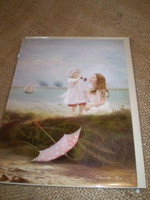 English Edwardian style seaside occasion card.Sea Breezes