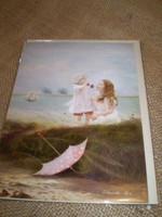 English Edwardian style seaside occasion card.Sea Breezes