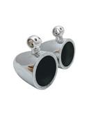 "8"" Wakeboard Tower Speaker Cans, Spun Aluminum Pods - Fits JL Audio 880, Rockford Fosgate PM282H, PM282B, PM282, Pioneer TS-MR2040, MB Quart NK1-120L, Wet Sounds XS-808/SW808/Revo-8, Polished or Black"