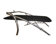 Krypt Flat Cargo Wakeboard Tower Boat Bimini Shade Cover - Mounted Above or Below Ski Tower Top