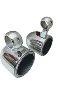 """6.5"""" Bullet Style Wakeboard Tower Speaker Cans - Polished or Black"""