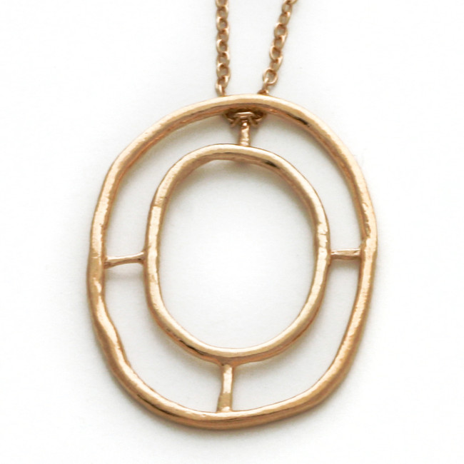 Rose gold window of destiny necklace