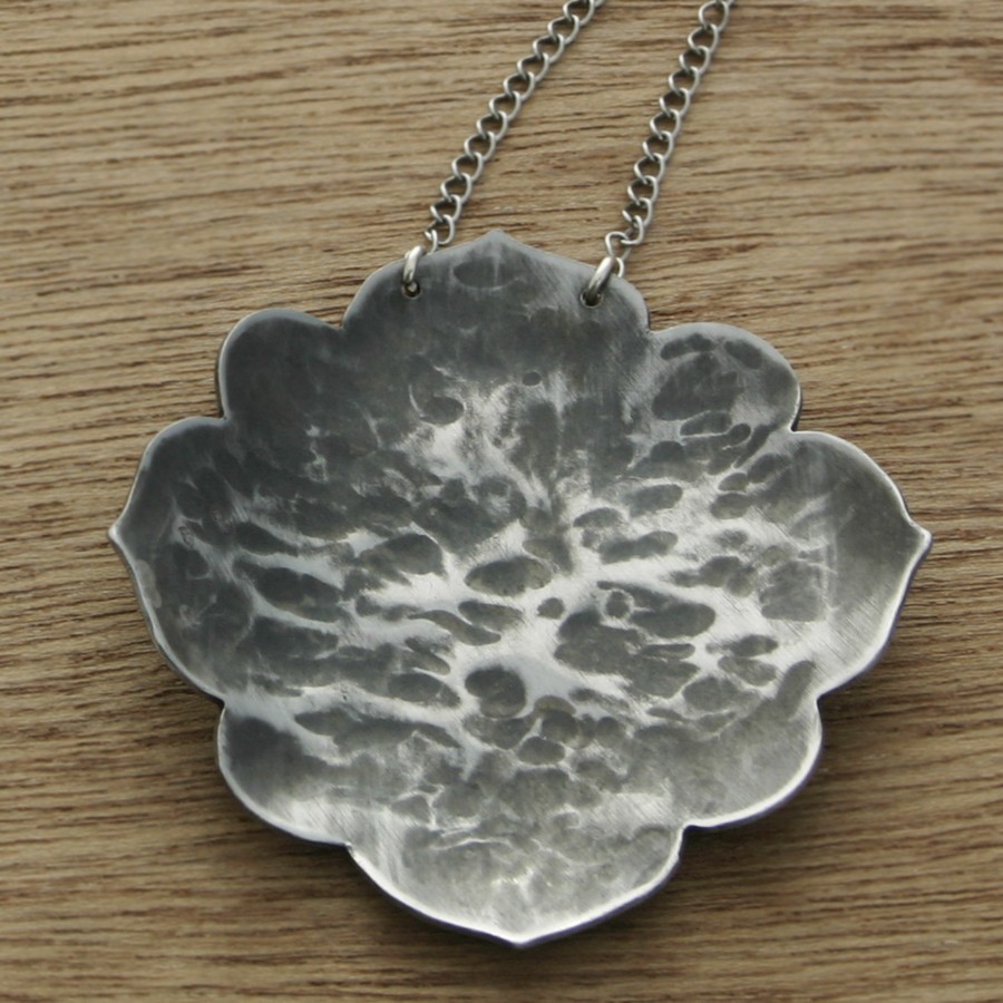 Grey Lotus necklace