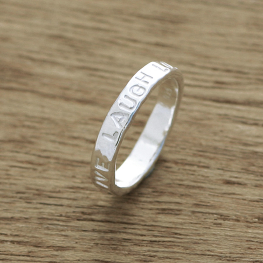 personalised stackable ring