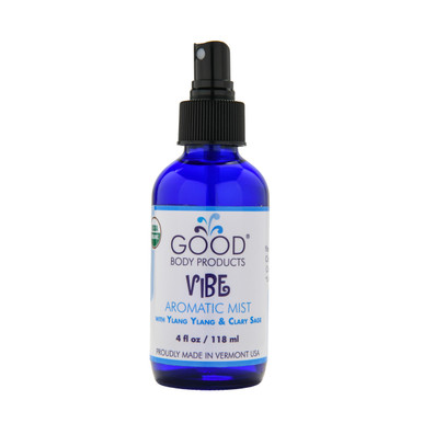 Good Body Products Organic VIBE Aromatic Mist with Ylang Ylang & Clary Sage
