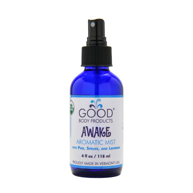 Good Body Products Organic AWAKE Aromatic Mist with Pine, Spruce, & Lavender
