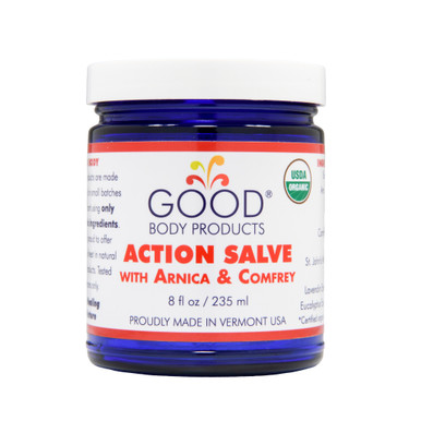 Good Body Products ACTION SALVE PRO (8 oz) with Arnica & Comfrey