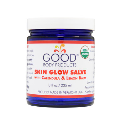 Good Body Products SKIN GLOW SALVE with Calendula & Lemon Balm PRO (8 oz)