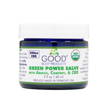 Good Body Products GREEN POWER SALVE with Arnica, Comfrey, & CBD