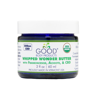 Good Body Products WHIPPED WONDER BUTTER with Frankincense & CBD
