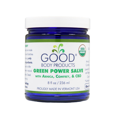 Good Body Products GREEN POWER SALVE PRO with Arnica, Comfrey, and CBD