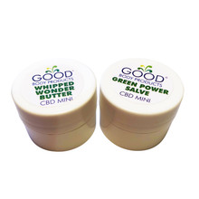 Good Body Products CBD Minis: One .25oz Green Power Salve and one .25oz Whipped Wonder Butter