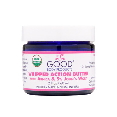 Good Body Products WHIPPED ACTION BUTTER with Arnica & St. John's Wort