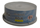 Copystars Blu-ray Media Blank Discs 6x BD-R 25 GB White Inkjet Printable Single Layer Recordable Disc Spindle 25pcs