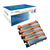 LinkToner Compatible Toner Cartridge Replacement for Brother TN630 & TN660 BK 4 Pack Laser Photo Printer DCP-L2520D, DCP-L2520DW, DCP-L2540DN, DCP-L2540DW, DCP-L2560DW, HL-L2300D, HL-L2305W, HL-L2315D