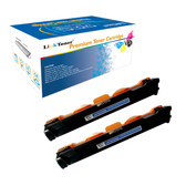 LinkToner TN1000 Compatible Toner Cartridge Replacement for Brother TN-1000 BK 2 Pack Laser Photo Printer