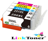 LinkToner Cli251 PGI250 Compatible Ink Cartridge Replacement for Canon  PGI -250 XL  CLI-251 XL  for Canon Pixma Printer
