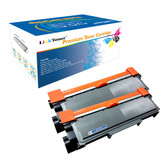 LinkToner Jumbo Yield TN660 Compatible Toner Cartridge for Brother TN660 BK 2 Pack Laser Printer