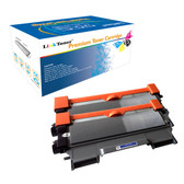 LinkToner Jumbo Yield TN450 Black 2 Pack Compatible Toner Cartridge  for Brother TN450 BK  Printer DCP-7060, DCP-7060D, DCP-7065DN, DCP-7070DW, HL-2220, HL-2230, HL-2240, HL-2240D, HL-2242D, HL-2250DN,