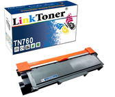 LinkToner TN760 with Chip Compatible Brother TN760 TN730 TN770 Replacement for Brother Toner Cartridge Laser Printer