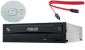 Asus Internal Burner DVD Drive CD DVD RW writer Black 24X  24B1ST +Software+ Sata  Data Cable