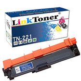 LinkToner TN221 Compatible Brother TN-221 BK Black laser toner cartridge Black High Yield for Brother Printer HL-3170CDW,MFC-9130CW