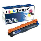 LinkToner TN225C Cyan Compatible Brother laser toner cartridge for TN-225 C Cyan High Yield for Brother Printer DCP-9020CDW, HL-3180CDW