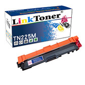 LinkToner Brother TN225M Compatible Toner Cartridge Replacement High Yield for Brother TN-225 M Magenta Laser Printer MFC-9130CW, MFC-9140CDN