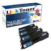 LinkToner TN433 Compatible Toner Cartridges for Brother TN-433 TN431 High Yield Printer MFC-L8900CDW HL-L8260CDW HL-L8360CDWT