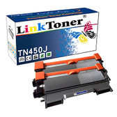 LinkToner TN450 Compatible Toner Cartridge High Yield for Brother TN-450 BK TN-420 Laser Printer DCP-7060, HL-2230,HL-2240D