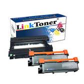 LinkToner TN660 2 Pack and DR630 Drum Unit Compatible Toner Cartridge for Brother TN-660 TN-630 Printer HL-L2300D, HL-L2305W HL-L2315DW High Yield Cartridges