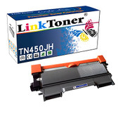LinkToner Double High Yield TN450 JH Compatible Toner Cartridge Replacement for Brother TN-450 BK TN-420 Laser Printer, HL-2242D, HL-2250DN
